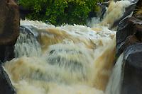 flood waters of the Waikoloa stream The Big Island of Hawaii