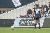10th September 2017, Sixways Stadium, Worcester, England; Aviva Premiership Rugby, Worcester Warriors versus Wasps; Tom Heathcote of Worcester Warriors gets ready to kick the conversion after their first try