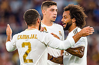 Marcelo of Real Madrid celebrates with team mates after scoring goal of 0-1 <br /> Roma 11/08/2019 Stadio Stadio Olimpico Football friendly match pre season 2019/2020 AS Roma - Real Madrid <br /> Mabel Green Cup Trophy <br /> Foto Andrea Staccioli / Insidefoto