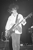 UNIONDALE, NY AUGUST 08,1987: Simon Gallup of The Cure performs at Nassau Coliseum on August 8, 1987 in Uniondale NY. Photo By Larry Marano © 1987