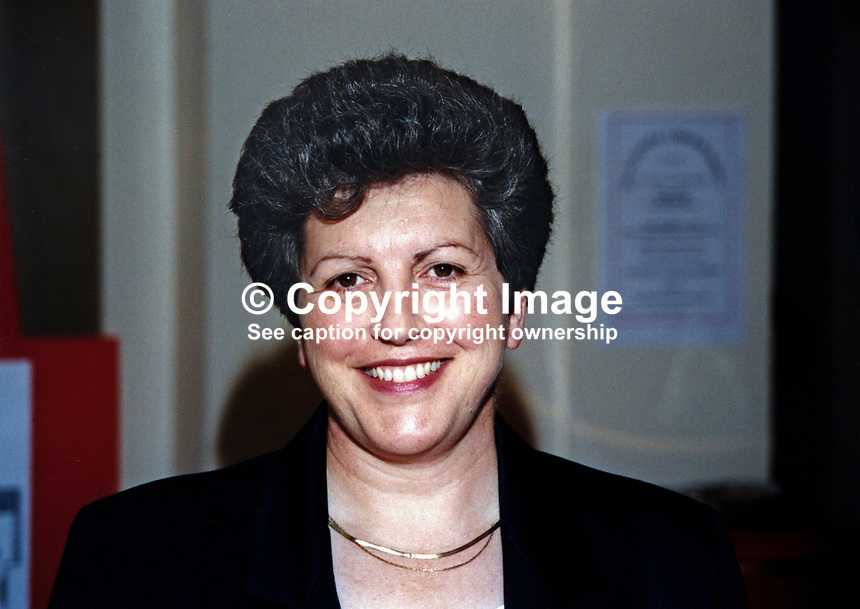 Pauline Green, MEP, Labour Party, UK, 19961002PG.<br /> <br /> Copyright Image from Victor Patterson,<br /> 54 Dorchester Park, <br /> Belfast, UK, BT9 <br /> <br /> t1: +44 28 9066 1296 (from Rep of Ireland 048 90661296)<br /> t2: +44 28 9002 2446 (from Rep of Ireland 048 9002 2446)<br /> <br /> m: +44 7802 353836<br /> <br /> e: victorpatterson@me.com<br /> www.victorpatterson.com<br /> <br /> Please see my Terms and Conditions of Use at www.victorpatterson.com. It is IMPORTANT that you familiarise yourself with them.<br /> <br /> Images used on the Internet must be visibly watermarked i.e. &copy; Victor Patterson<br /> within the body of the image and copyright metadata must not be deleted. Images <br /> used on the Internet have a size restriction of 4kbs and will be chargeable at current<br />  NUJ rates unless agreed otherwise.<br /> <br /> This image is only available for the use of the download recipient i.e. television station, newspaper, magazine, book publisher, etc, and must not be passed on to any third <br /> party. It is also downloaded on condition that each and every usage is notified within 7 days to victorpatterson@me.com<br /> <br /> The right of Victor Patterson to be identified as the author is asserted in accordance with The Copyright Designs And Patents Act (1988). All moral rights are asserted.