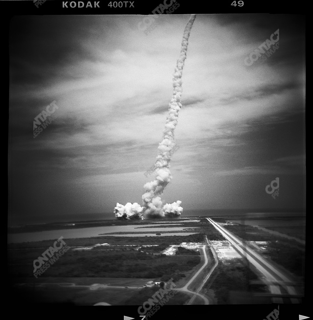 Launch of the Space Shuttle Atlantis. Kennedy Space Center, Florida, USA, May 11, 2009
