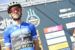 Race leader Adam Yates (GBR) Mitchelton-Scott at sign on before the start of Stage 5 of the Race of the Two Seas, the 54th Tirreno-Adriatico 2019, running 180km from Colli al Matauro to Recanati, Italy. 17th March 2019.<br /> Picture: LaPresse/Fabio Ferrari | Cyclefile<br /> <br /> <br /> All photos usage must carry mandatory copyright credit (© Cyclefile | LaPresse/Fabio Ferrari)