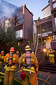 Apartment Fire in Brentwood, Los Angeles, California, USA
