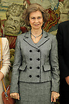 Queen Sofia of Spain dunring audience to a representation of Normon Laboratories.March 12,2013. (ALTERPHOTOS/Acero)