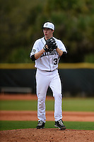 Dartmouth Big Green pitcher Marc Bachman (37) during a game against the Ball State Cardinals on March 7, 2015 at North Charlotte Regional Park in Port Charlotte, Florida.  Ball State defeated Dartmouth 7-4.  (Mike Janes/Four Seam Images)