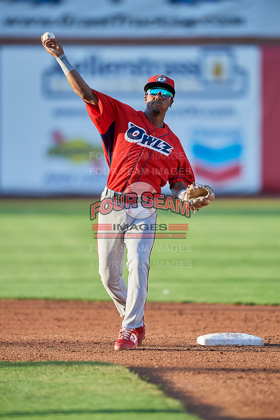 Drevian Williams-Nelson (37) second baseman of the Orem Owlz during the game against the Ogden Raptors at Lindquist Field on September 3, 2019 in Ogden, Utah. The Raptors defeated the Owlz 12-0. (Stephen Smith/Four Seam Images)