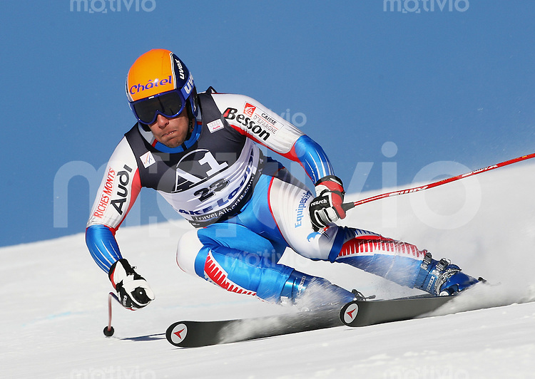 Ski Alpin; Saison 2005/2006 Abfahrt Herren Training Yannick Bertrand (FRA)
