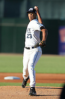 West Michigan Whitecaps pitcher Victor Larez (23) during a game vs. the South Bend Silver Hawks at Fifth Third Field in Comstock Park, Michigan August 16, 2010.   West Michigan defeated South Bend 3-2.  Photo By Mike Janes/Four Seam Images