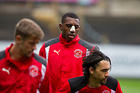 Amari'i Bell of Fleetwood Town warms up ahead of the Sky Bet League 1 match between Plymouth Argyle and Fleetwood Town at Home Park, Plymouth, England on 7 October 2017. Photo by Mark  Hawkins / PRiME Media Images.
