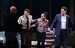 Kenny Leon, Jeremy Jordan, Kerry Washington and Steven Pasquale  during the Broadway Opening Night Curtain Call for 'AMERICAN SON' at the Booth Theatre on November 4, 2018 in New York City.