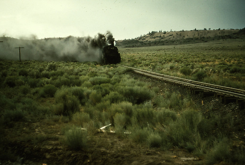 D&amp;RGW double-headed freight approaching the camera.<br /> D&amp;RGW    <br /> RDS003-083 is a later companion slide.