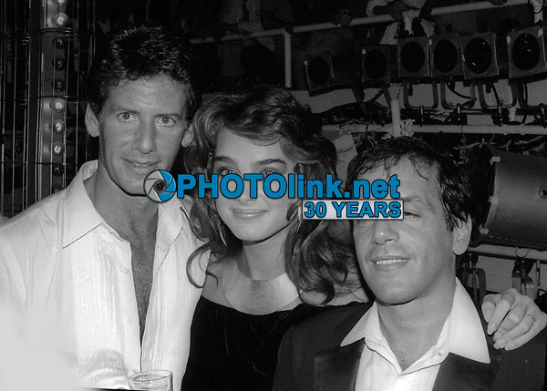 Calvin Klein Brooke Shields Steve Rubell at Studio 54 1981<br /> Photo By Adam Scull/PHOTOlink.net