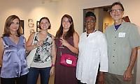 NWA Democrat-Gazette/CARIN SCHOPPMEYER Linda Gaddy (from left), Lauren Solomon, April Johnson, Sharon Killion amd Keith Richards attend the Fayetteville Underground's 101 Club benefit June 23 in Fayetteville.