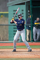 Jordan Kesson (24) of the Toledo Rockets at bat against the Virginia Tech Hokies at The Ripken Experience on February 28, 2015 in Myrtle Beach, South Carolina.  The Hokies defeated the Rockets 1-0 in 10 innings.  (Brian Westerholt/Four Seam Images)