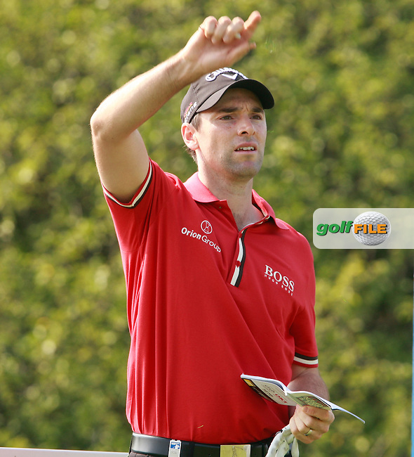 Oliver Wilson (ENG) prepares to tee off on the 3rd tee during Thursday's Round 1 of the Austrian Open presented by Lyoness at the Diamond Country Club, Atzenbrugg, Austria, 22nd September 2011 (Photo Eoin Clarke/www.golffile.ie)