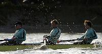 PUTNEY, LONDON, ENGLAND, 05.03.2006, CUBC; Cambridge, No. 2 Tom Edwards; [CUBC 2006 President], No.3 Sebastian Thormann; No 4. Thorsten Englemann;  Pre 2006 Boat Race Fixtures,.   © Peter Spurrier/Intersport-images.com[Mandatory Credit Peter Spurrier/ Intersport Images] Varsity Boat Race, Rowing Course: River Thames, Championship course, Putney to Mortlake 4.25 Miles
