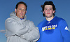 Hofstra men's lacrosse head coach Seth Tierney and freshman Ryan Tierney, his son, pose for a portrait after a scrimmage against Hobart at Hofstra University on Saturday, Feb. 4, 2017.