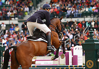 William Fox-Pitt and #3 Seacookie TSF from Great Britain at the Rolex Three Day Event.   April 28, 2013..