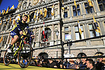 Luke Durbridge (AUS) Orica-Scott team on stage at sign on before the 101st edition of the Tour of Flanders 2017 running 261km from Antwerp to Oudenaarde, Flanders, Belgium. 26th March 2017.<br /> Picture: Eoin Clarke | Cyclefile<br /> <br /> <br /> All photos usage must carry mandatory copyright credit (&copy; Cyclefile | Eoin Clarke)