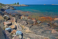 Pprecambrian shield rock on Georgian Bay (Lake Huron)<br />