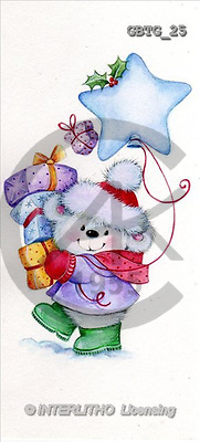 Theresa, CHRISTMAS ANIMALS, paintings(GBTG25,#XA#) Weihnachten, Navidad, illustrations, pinturas