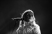INVERCARGILL, NEW ZEALAND - NOVEMBER 22: ( EDITORS NOTE: This image has been processed using digital filters )Gin Wigmore performs on stage during her Blood To Bone NZ Tour  at the Civic Theatre on November 22, 2015 in Invercargill, New Zealand (Photo by Dianne Manson/Getty Images) *** Local Caption *** Gin Wigmore