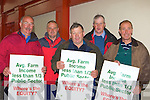 PARTICIPATING: Kevin O'Sullivan (Caherdaniel), Barry Clifford (Castlecove), Mike Tim O'Sullivan (Kenmare), Dan McCarthy (Kenmare Mart manager) and John Palmer (Kenmare) participating in the IFA protest outside Jackie Healy-Rae's clinic in Scotts Hotel, Killarney on Saturday.