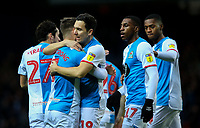 Blackburn Rovers' Adam Armstrong celebrates scoring the opening goal with Stewart Downing<br /> <br /> Photographer Alex Dodd/CameraSport<br /> <br /> The EFL Sky Bet Championship - Blackburn Rovers v Preston North End - Saturday 11th January 2020 - Ewood Park - Blackburn<br /> <br /> World Copyright © 2020 CameraSport. All rights reserved. 43 Linden Ave. Countesthorpe. Leicester. England. LE8 5PG - Tel: +44 (0) 116 277 4147 - admin@camerasport.com - www.camerasport.com