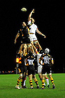 St Albans, England. Lineout during the Saracens Storm vs London Wasps Premiership Rugby Aviva A League fixture at Woolam Playing Field, St Albans, England September 17. 2012