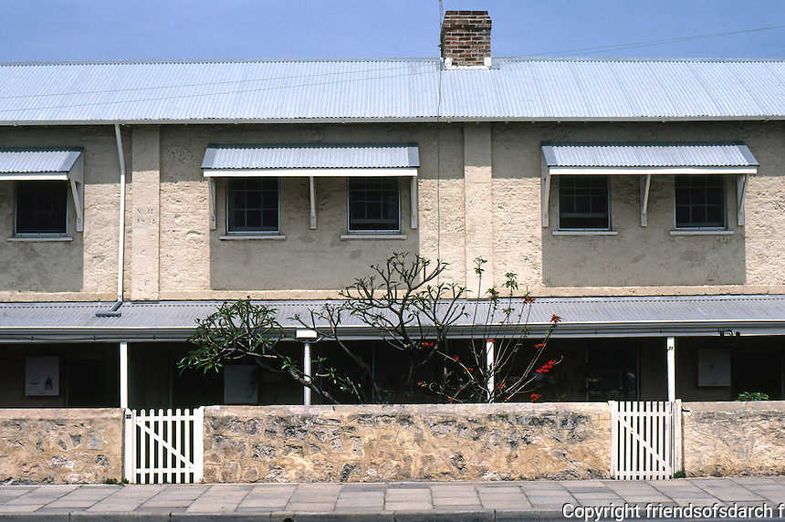 Fremantle: Warders Quarters, 1851. Constructed by convicts to house Pensioner Guards and their families. Henderson St. Photo '82.