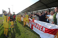 Hornchurch players acknowledge the supporters after having been promted during Witham Town vs AFC Hornchurch, Bostik League Division 1 North Football at Spa Road on 14th April 2018