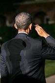 United States President Barack Obama attends the Marine Barracks Washington, D.C. Evening Parade in Washington, D.C., on Friday, June 27, 2014. <br /> Credit: Kristoffer Tripplaar  / Pool via CNP