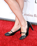 """Actress Krysten Ritter 's shoes at The Los Angeles Premiere of """"Vicky Cristina Barcelona"""" at the Mann Village Theatre on August 4, 2008 in Westwood, California."""