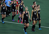 New Zealand after the loss during the World Hockey League match between New Zealand and Korea. North Harbour Hockey Stadium, Auckland, New Zealand. Saturday 18 November 2017. Photo:Simon Watts / www.bwmedia.co.nz