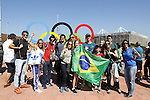 Fans, Olympic : AUGUST 13, 2016 - : Fans pose for pictures in Olympic park during the Rio 2016 Olympic Games in Rio de Janeiro, Brazil. (Photo by Yusuke Nakanishi/AFLO SPORT)