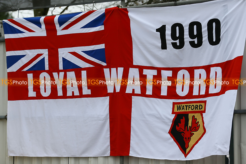 Watford flag ahead of  Woking vs Watford, Emirates FA Cup Football at The Laithwaite Community Stadium on 6th January 2019