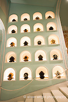 The Caribbean, Anguilla. The newly renovated Malliouhana Hotel and Spa. Display of old navy dive helmets in the lobby.