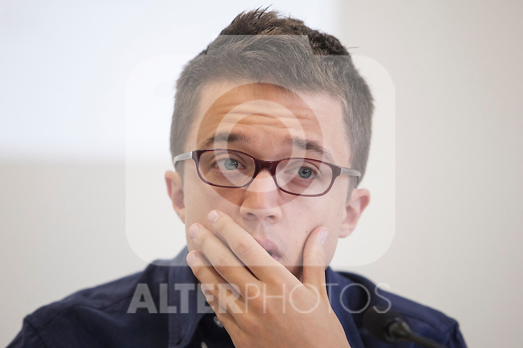 `Podemos´ political party member Inigo Errejon during a press conference in Madrid, Spain. June 22, 2015. (ALTERPHOTOS/Victor Blanco)