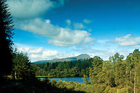 Ben Lomond and Loch Ard from The Narrows, Loch Ard Forest, Loch Lomond and the Trossachs National Park, Stirlingshire