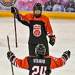 03.01.2020, BLZ Arena, Füssen / Fuessen, GER, IIHF Ice Hockey U18 Women's World Championship DIV I Group A, <br /> Frankreich (FRA) vs Japan (JPN), <br /> im Bild Torjubel nach 3:0, Minami Kamada (JPN, #15), Azuki Ushio (JPN, #24)<br /> <br /> Foto © nordphoto / Hafner