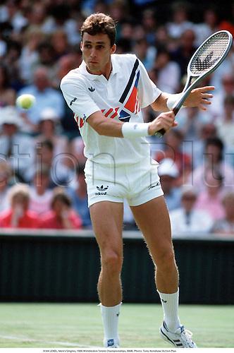 IVAN LENDL, Men's Singles, 1986 Wimbledon Tennis Championships, 8606. Photo: Tony Henshaw/Action Plus...1986.tennis.man