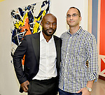 MIAMI, FL - DECEMBER 05: Actor Jimmy Jean-Louis and artist Richard Tojdowski attends the NE2P Art Beat Miami Chef Creole Celebrity Brunch at the Little Haiti Cultural Center on Saturday December 05, 2015 in Doral, Florida.  ( Photo by Johnny Louis / jlnphotography.com )