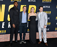 """LOS ANGELES, CA: 27, 2020: Winston Duke, Peter Berg, Iliza Shlesinger & Mark Wahlberg  at the world premiere of """"Spenser Confidential"""" at the Regency Village Theatre.<br /> Picture: Paul Smith/Featureflash"""