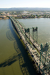 Aerial of the Oregon & Washington Interstate 5 Bridge