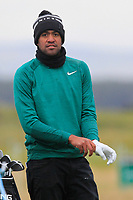 Tony Finau (USA) on the 15th fairway during round 4 of the Alfred Dunhill Links Championship at Old Course St. Andrew's, Fife, Scotland. 07/10/2018.<br /> Picture Thos Caffrey / Golffile.ie<br /> <br /> All photo usage must carry mandatory copyright credit (&copy; Golffile | Thos Caffrey)