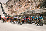 The peloton in action during Stage 4 of 10th Tour of Oman 2019, running 131km from Yiti (Al Sifah) to Oman Convention and Exhibition Centre, Oman. 19th February 2019.<br /> Picture: ASO/P. Ballet | Cyclefile<br /> All photos usage must carry mandatory copyright credit (&copy; Cyclefile | ASO/P. Ballet)