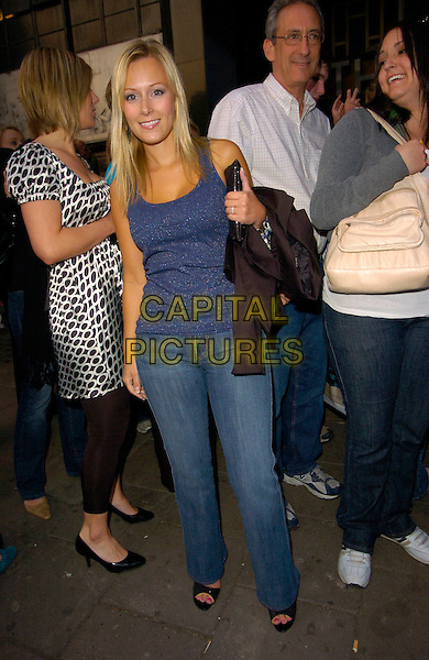 "LEANNE WILSON.The ""Wicked"" cast change VIP press night at the Apollo Victoria Theatre, London, England..April 12th, 2007.full length jeans denim blue top.CAP/CAN.©Can Nguyen/Capital Pictures"