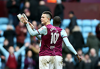 Jack Grealish of Aston Villa celebrates Aston Villa's victory against Birmingham City.<br /> <br /> Photographer Leila Coker/CameraSport<br /> <br /> The EFL Sky Bet Championship - Aston Villa v Birmingham City - Sunday 11th February 2018 - Villa Park - Birmingham<br /> <br /> World Copyright &copy; 2018 CameraSport. All rights reserved. 43 Linden Ave. Countesthorpe. Leicester. England. LE8 5PG - Tel: +44 (0) 116 277 4147 - admin@camerasport.com - www.camerasport.com<br /> Photographer Leila Coker/CameraSport<br /> <br /> The EFL Sky Bet Championship - Aston Villa v Birmingham City - Sunday 11th February 2018 - Villa Park - Birmingham<br /> <br /> World Copyright &copy; 2018 CameraSport. All rights reserved. 43 Linden Ave. Countesthorpe. Leicester. England. LE8 5PG - Tel: +44 (0) 116 277 4147 - admin@camerasport.com - www.camerasport.com
