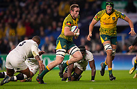 Australia's Izack Rodda in action during todays match<br /> <br /> Photographer Bob Bradford/CameraSport<br /> <br /> 2018 Quilter Internationals - England v Australia - Saturday 24th November 2018 - Twickenham - London<br /> <br /> World Copyright &copy; 2018 CameraSport. All rights reserved. 43 Linden Ave. Countesthorpe. Leicester. England. LE8 5PG - Tel: +44 (0) 116 277 4147 - admin@camerasport.com - www.camerasport.com